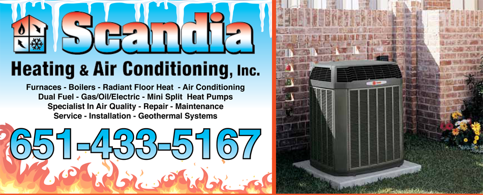 Scandia Heating & Air Conditioning is your Air Conditioning expert in Scandia, MN.