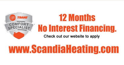 12 months no interest financing on furnace installation in Forest Lake MN.