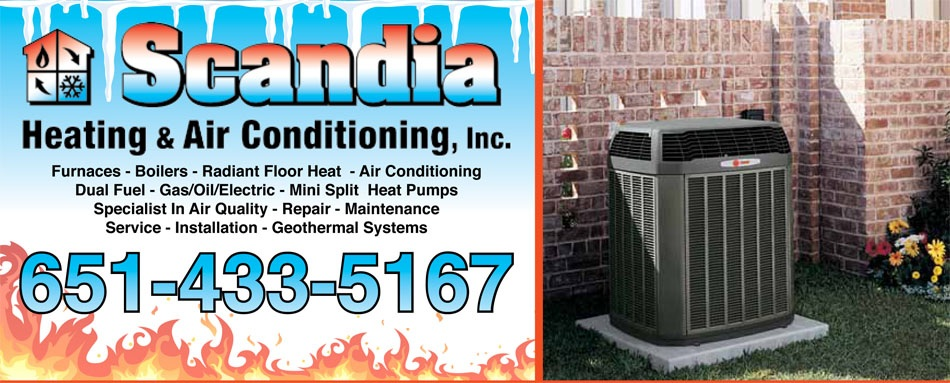 Scandia Heating & Air Conditioning is your AC expert in Scandia MN.