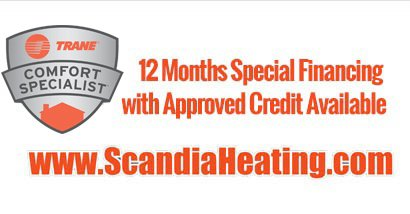 12 months no interest financing on Furnace installation in Hugo MN.